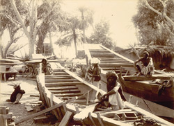 Boat builders at Sukhur